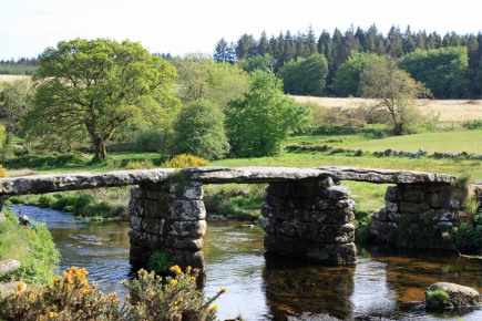 Postbridge, a Medieval clapper bridge