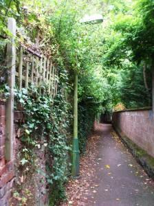 Heavitree footpath