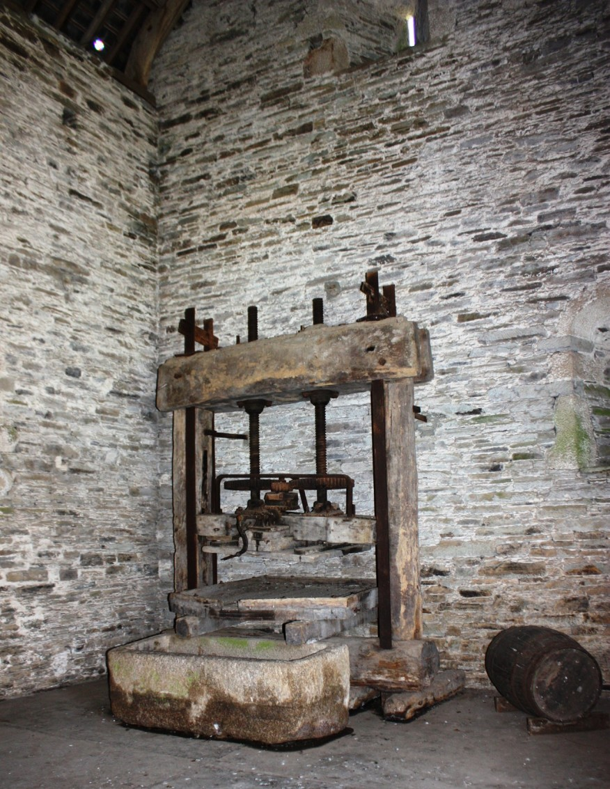 An ancient apple press