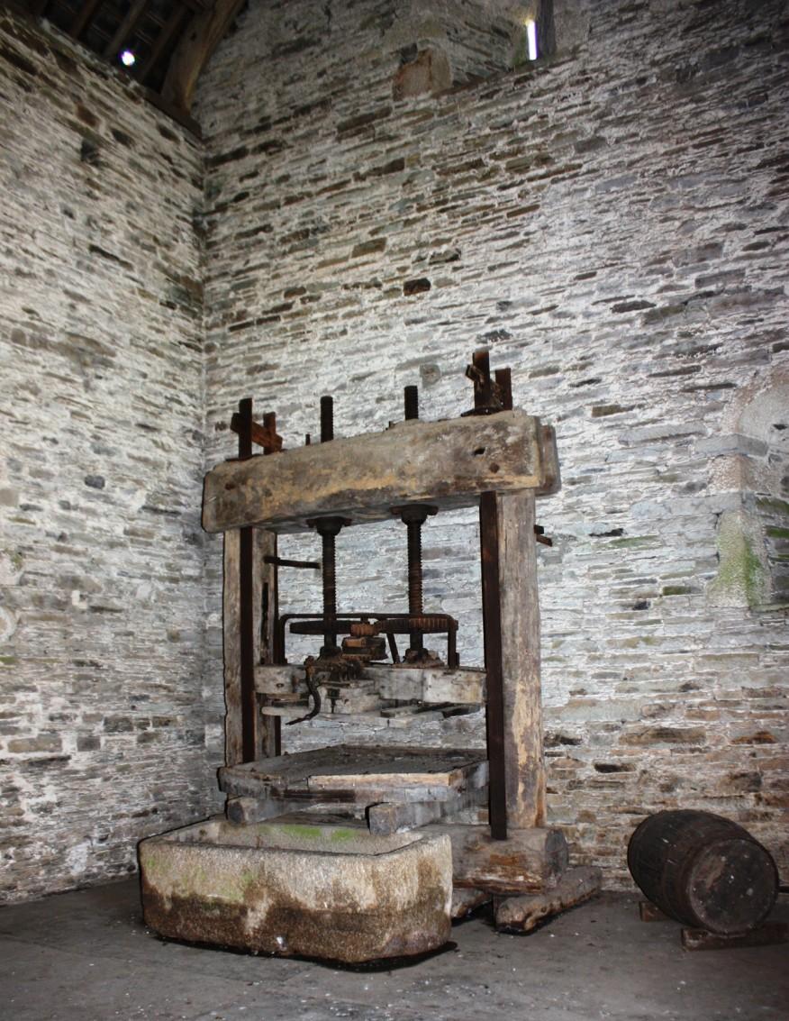 An ancient apple press
