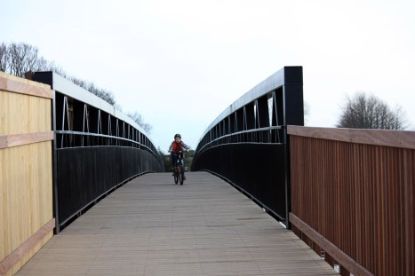 Cycling over the bridge