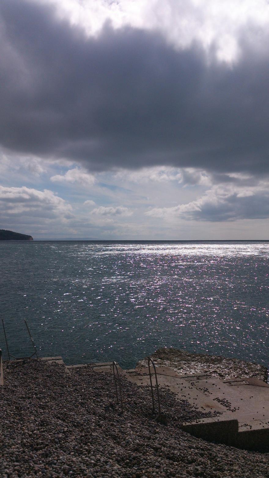 A shimmering horizon