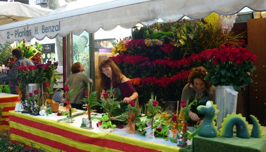 Sant Jordi preparations