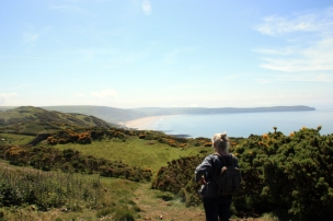 Lindy looked towards Woolacombe