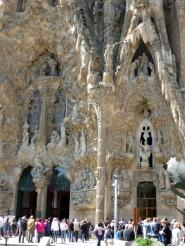 Part of the nativity facade