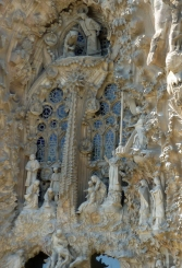 I went up the tower of the nativity façade and you have to go back down 400 steps!