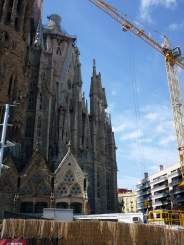 The passion and the nativity façade meet