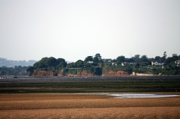 Lympstone's sandstone cliffs