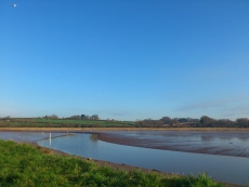 Where two rivers meet, the Clyst joins the Exe below Topsham.