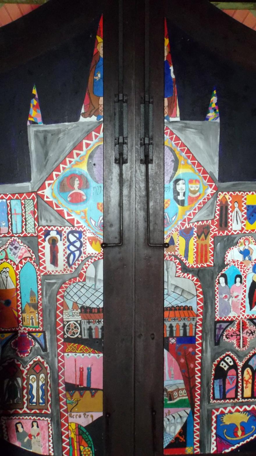 pattern door