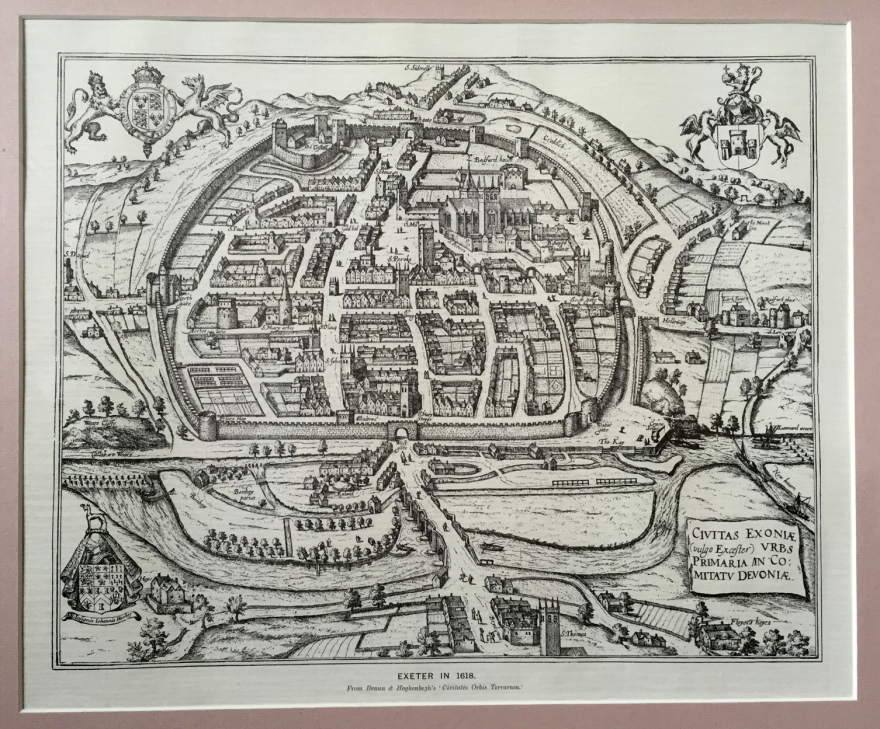 Exeter, inside the wall 1618