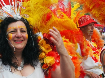 A smiley samba lady
