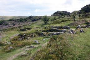the medieval village ruins